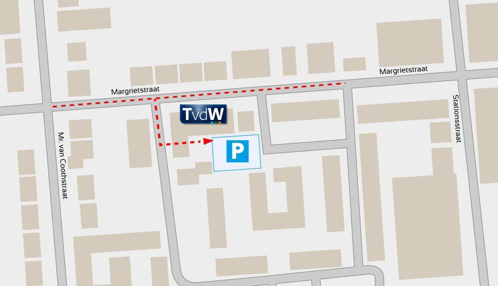 gratis parkeren achter het pand van Twan van de Wiel