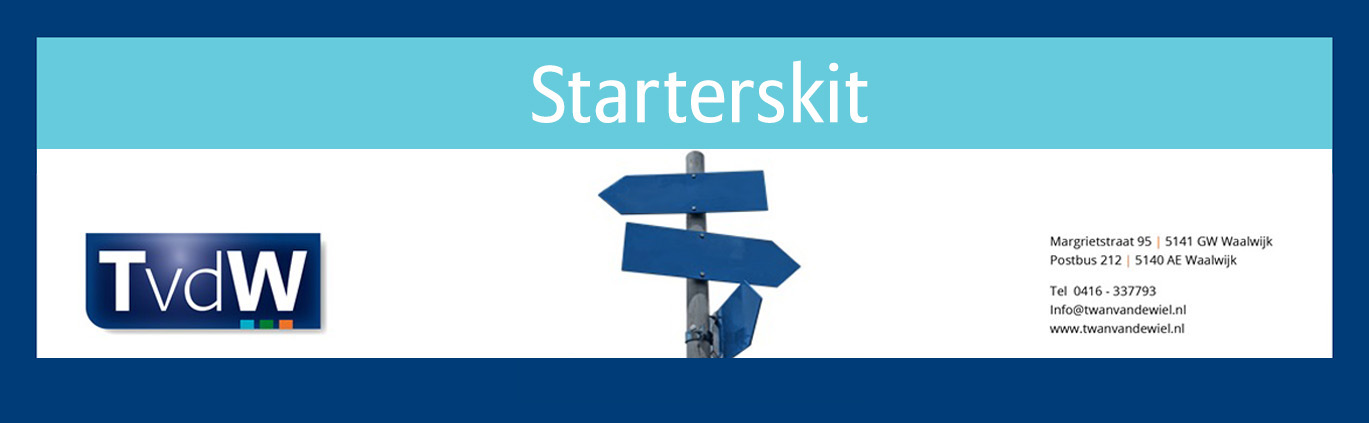 Starterskit voor starters, ondernemers Waalwijk ZZP MKB